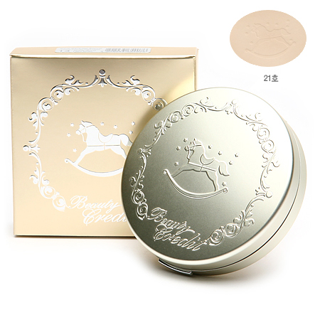 Beauty Credit (แป้งม้าโยก) Lovely Powder Pact Moist  #21 ทอง