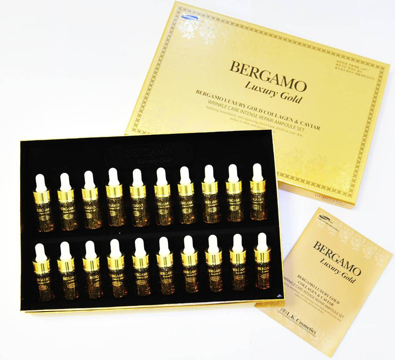 Bergamo Luxury Gold Collagen&Caviar Ampoule Serum