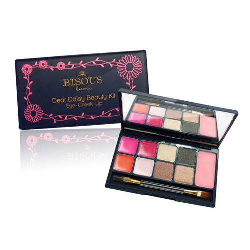 Bisous Bisous Dear Daisy Beauty Kit Eye Cheek Lip #2 Peach Daisy