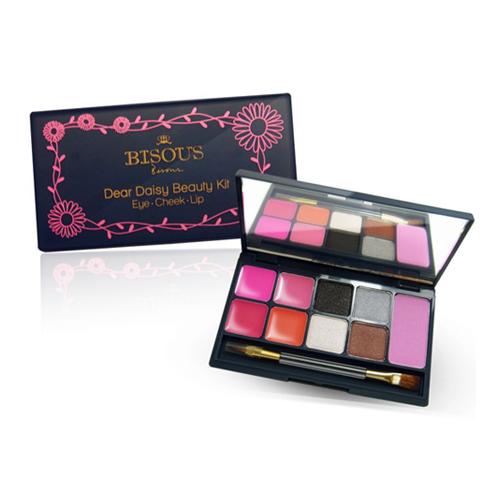 Bisous Bisous Dear Daisy Beauty Kit Eye Cheek Lip #1 Pink Daisy