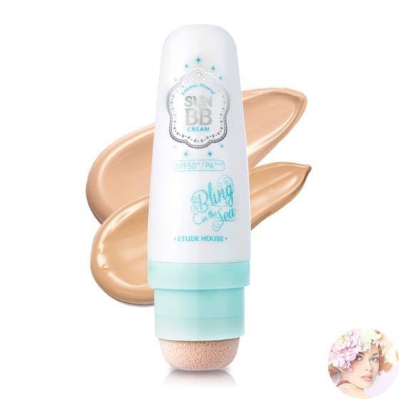 Etude House Precious Mineral Sun BB Cream SPF50+PA+++(Bling In The Sea) #N02