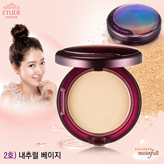 Etude House Collagen Moistfull Essence-in Pact SPF25/PA++ #2 Natural Beige