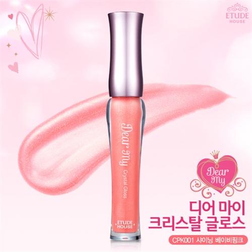Etude House Dear My Crystal Gloss #CPK001 Shining Baby Pink