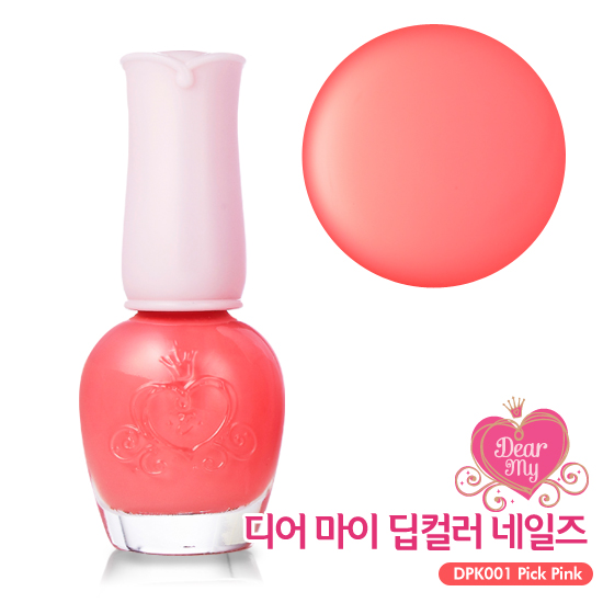 Etude House Dear My Deep Color Nails #DPK001 Pick Pink