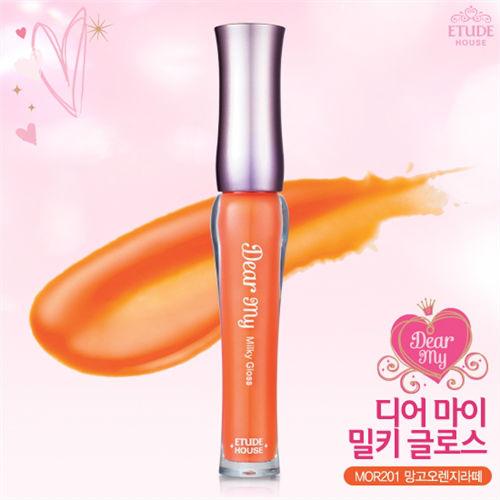 Etude House Dear My Milky Gloss #MOR201 Orange Mango Latte