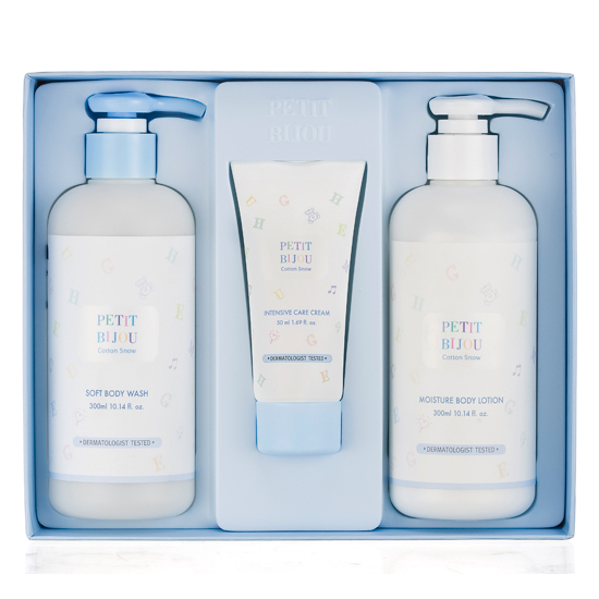 Etude House PETIT BIJOU Cotton Snow Soft Body Set