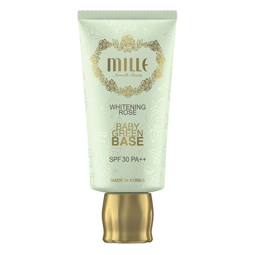 Mille Mille Whitening Rose Baby Green Base SPF30 PA++