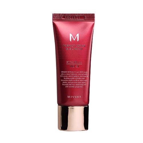 Missha M Perfect Cover BB Cream SPF42 PA+++ #21 Light Beige 20ml.