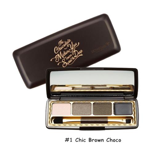 Skinfood Choco Smoky Eye Palette  #1 Chic Brown Choco