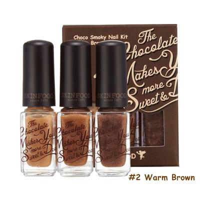 Skinfood Choco Smoky Nail Kit  #2 Warm Brown