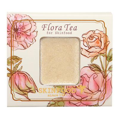 Skinfood Flora Tea My Short Cake Eye Shadow (Cream Pearl) #CPC01