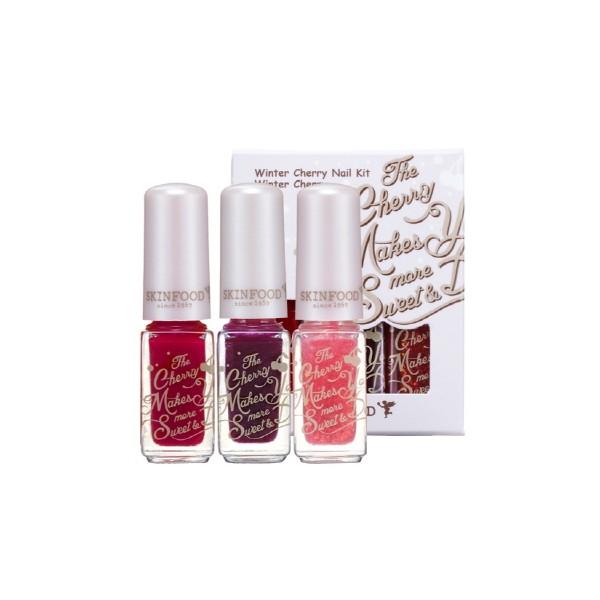 Skinfood Winter Cherry Nail Kit  #2 Winter Cherry